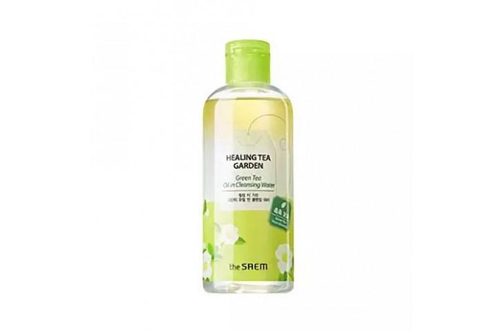 Вода очищающая увлажняющая для снятия макияжа с маслом зеленого чая The Saem Healing Tea Garden Green Tea Oil In Cleansing Water