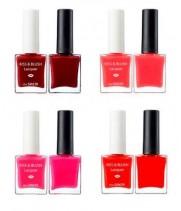 Набор лак для ногтей + блеск для губ и румяна The Saem Lip Nail Kiss & Blush Lacquer & Kissholic Nails