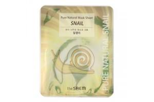 Маска тканевая с муцином улитки The Saem Pure Natural Mask Sheet Snail