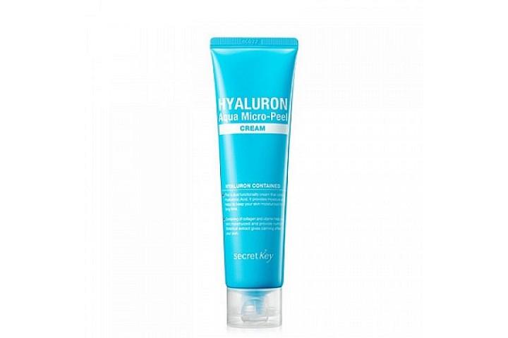 Крем гиалуроновый для увлажнения и омоложения Secret Key Hyaluron Aqua Micro-Peel Cream