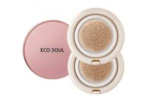 Основа тональная маскирующая The Saem Eco Soul Essence Cushion All Cover