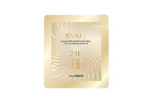 Маска для лица улиточная гелевая The Saem Snail Essential 24K Gold Gel Mask Sheet