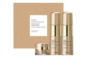 Набор уходовый антивозрастной The Saem Snail Essential Ex Wrinkle Solution Skin Care 2 Set