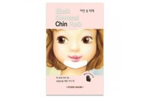 Патчи для подбородка от черных точек с древесным углем Etude House  Black Charcoal Chin Pack