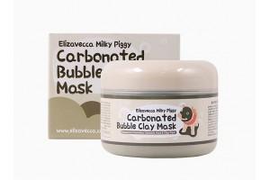 Очищающая пузырьковая маска  Elizavecca milky piggy carbonated bubble clay mask